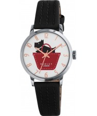 Radley RY2345 Damen Grenze schwarz und Umbra Lederband Uhr