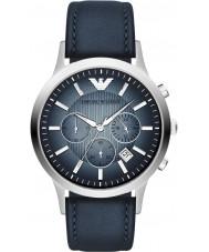 Emporio Armani AR2473 Mens klassische Chronograph silber blau Uhr