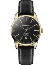 Barbour BB049GDBK Damen leighton schwarzes Lederband Uhr