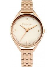 Karen Millen KM130ERGM Damen rosé vergoldet Armband-Uhr