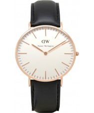 Daniel Wellington DW00100036 Damen klassische sheffield 36mm rosafarbene Golduhr