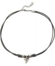 Fossil JF85832040 Die beiläufigen Mens schwarzes Leder Halskette