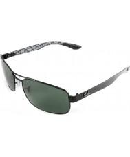 RayBan Rb8316 62 Tech Kohlefaser schwarz grün 002-N5 polarisierten Sonnenbrillen
