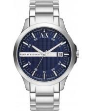 Armani Exchange AX2132 Herren blau silbernes Armband Kleid zu sehen