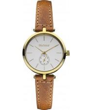 Barbour BB011GDTN Damen Lisle braunes Lederband Uhr