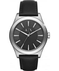 Armani Exchange AX2323 Männer Kleid schwarzes Lederband Uhr