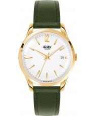 Henry London HL39-S-0098 Chiswick weiß moosgrün Uhr
