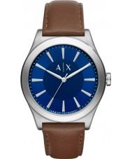 Armani Exchange AX2324 Männer Kleid dunkelbraun Lederband Uhr