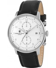 Edward East EDW1901G7 Mens schwarzes Leder Chronograph