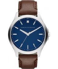 Armani Exchange AX2181 Männer Kleid dunkelbraun Lederband Uhr