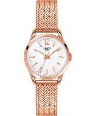 Henry London HL25-M-0022 Damen rich weiße Rose goldene Uhr