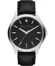 Armani Exchange AX2182 Männer Kleid schwarzes Lederband Uhr