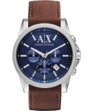 Armani Exchange AX2501 Herren blau braun Chronograph Weisekleiduhr