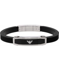 Emporio Armani EGS1543040 Herren legen schwarzes Armband