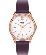 Henry London HL39-SS-0086 Damen hampstead weiß lila Uhr mit Swarovski Elementen