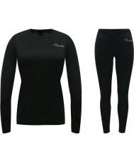 Dare2b DWU308-80045-XS-S Damen Wolle schwarz für Unterwäsche-Set - Größe xs-s