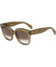 Celine Damen cl 41805-s QP4 z3 militärische grüne Sonnenbrille
