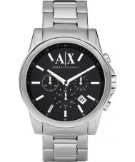 Armani Exchange AX2084 Herren schwarz Silber Chronograph Weisekleiduhr