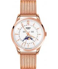 Henry London HL39-LM-0162 Richmond weiße Rose goldene Uhr