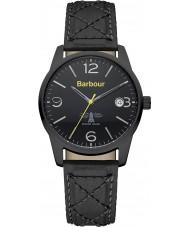 Barbour BB026BKBK Mens alanby schwarzes Lederband Uhr