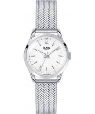 Henry London HL25-M-0013 Damen Edgware weiß silberne Uhr