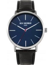 Ben Sherman WB054B Mens schwarzes Lederband Uhr