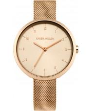Karen Millen KM135RGM Damen rosé vergoldet Armband-Uhr