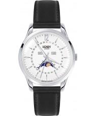Henry London HL39-LS-0083 Edgware weiß schwarz Uhr