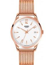 Henry London HL39-M-0026 Damen rich weiße Rose goldene Uhr