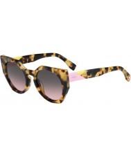 Fendi Facets ff 0151-s 00f en havanna Sonnenbrille gesichtet