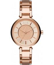 Armani Exchange AX5317 Damen städtischen Roségold vergoldet Armband-Uhr