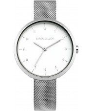 Karen Millen KM135SM Damen Silber Stahl Armbanduhr