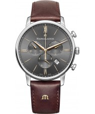 Maurice Lacroix EL1098-SS001-311-1 Mens eliros braunes Lederarmband Chronograph