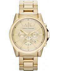 Armani Exchange AX2099 Herren vergoldet Chronograph Weisekleiduhr