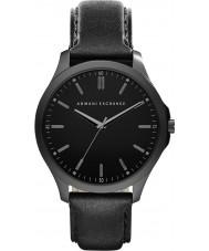 Armani Exchange AX2148 Männer Kleid schwarzes Lederband Uhr