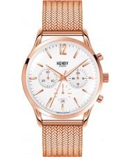 Henry London HL41-CM-0040 Herren rich weiß Rotgold Chronograph